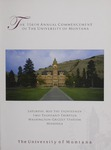University of Montana Commencement Program, 2013 by University of Montana--Missoula. Office of the Registrar
