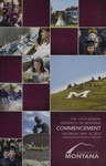 University of Montana Commencement Program, 2016 by University of Montana--Missoula. Office of the Registrar
