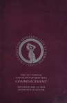 University of Montana Commencement Program, 2018 by University of Montana--Missoula. Office of the Registrar