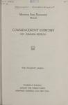 University of Montana Summer Commencement Program, 1952