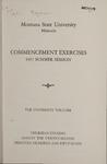 University of Montana Summer Commencement Program, 1957