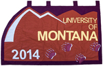 University of Montana-Missoula Commencement Banner, 2014 by University of Montana--Missoula