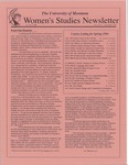 Women's Studies Program Newsletter, December 1993 by University of Montana--Missoula. Department of Women's Studies