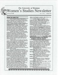 Women's Studies Program Newsletter, Spring 1995 by University of Montana--Missoula. Department of Women's Studies
