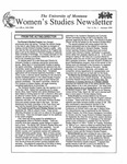 Women's Studies Program Newsletter, Fall 1996 by University of Montana--Missoula. Department of Women's Studies