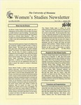 Women's Studies Program Newsletter, Fall 1998 by University of Montana--Missoula. Department of Women's Studies