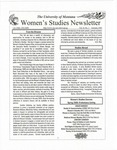 Women's Studies Program Newsletter, Fall 1999 by University of Montana--Missoula. Department of Women's Studies