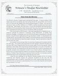 Women's Studies Program Newsletter, Fall 2000
