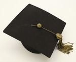 Black Doctoral Mortar Board by University of Montana--Missoula.