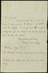 Letter from Robert Browning to H. Cholmondeley Pennell