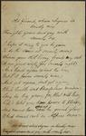 Manuscript poem by Thomas Love Peacock
