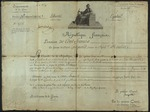 French pension, signed by Napoleon Bonaparte