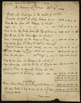 Manuscript of Jonathan Swift's accounts