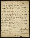 Manuscript of Jonathan Swift's accounts