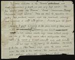 Fragment of an Edgar Allen Poe manuscript