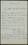 Letter from Alfred Guillaume Gabriel, Count d'Orsay to an unidentified recipient