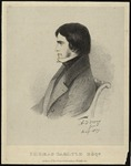 Lithograph of Thomas Carlyle by Alfred Guillaume Gabriel, Count d'Orsay
