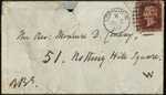 Envelope for a letter from Robert Browning to Moncure Conway by Robert Browning