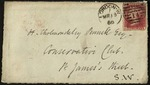 Envelope for a letter from Robert Browning to H. Cholmondeley Pennell by Robert Browning