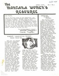 The Montana Women's Resource, April 1975