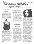 The Montana Women's Resource, September 1975