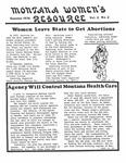 The Montana Women's Resource, Summer 1976