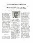 The Montana Women's Resource, Winter 1979 by University of Montana (Missoula, Mont. : 1965-1994). Women's Resource Center