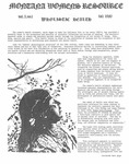 The Montana Women's Resource, Fall 1980 by University of Montana (Missoula, Mont. : 1965-1994). Women's Resource Center