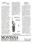 The Montana Women's Resource, Winter 1982, Vol. 6, no. 4 by University of Montana (Missoula, Mont. : 1965-1994). Women's Resource Center