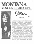 The Montana Women's Resource, Spring 1983 by University of Montana (Missoula, Mont. : 1965-1994). Women's Resource Center