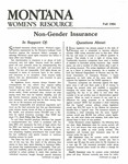 The Montana Women's Resource, Fall 1984 by University of Montana (Missoula, Mont. : 1965-1994). Women's Resource Center