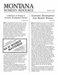 The Montana Women's Resource, Summer 1984 by University of Montana (Missoula, Mont. : 1965-1994). Women's Resource Center