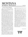 The Montana Women's Resource, Spring 1986 by University of Montana (Missoula, Mont. : 1965-1994). Women's Resource Center