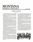 The Montana Women's Resource, Summer 1986 by University of Montana (Missoula, Mont. : 1965-1994). Women's Resource Center
