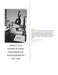 James B. Yule: Pioneer of Aerial Photography and Photogrammetry, 1917-1947 by Jamie B. Yule